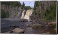 North Shore Waterfall And Lake I Fine-Art Print