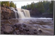 North Shore Rocky Waterfall View I Fine-Art Print