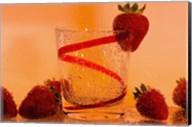 Strawberries And Red Swirl Glass Fine-Art Print