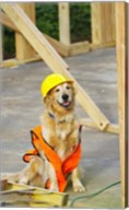 Canine Construction I Fine-Art Print