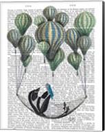 Penguin in Hammock Balloon Fine-Art Print