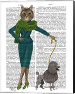 Cat and Poodle Fine-Art Print