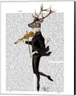 Dancing Deer with Violin Fine-Art Print