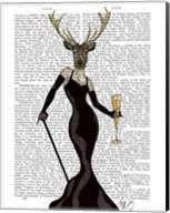 Glamour Deer in Black Fine-Art Print