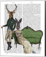 Mr Deer and Mrs Rabbit Fine-Art Print