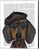 Hipster Dachshund Black and Tan Fine-Art Print