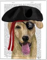 Yellow Labrador Pirate Fine-Art Print