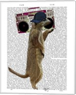 Meerkat with Boom Box Ghetto Blaster Fine-Art Print