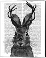 Jackalope with Grey Antlers Fine-Art Print