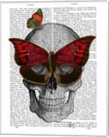 Pink Butterfly Mask Skull Fine-Art Print