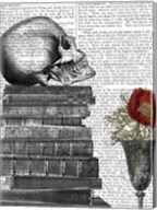 Skull And Books Fine-Art Print