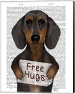 Dachshund Free Hugs Fine-Art Print