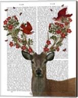 Deer and Love Birds Fine-Art Print