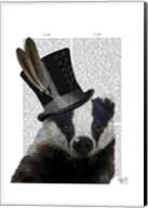 Steampunk Badger in Top Hat Fine-Art Print