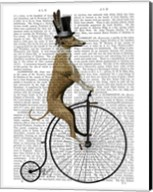 Greyhound on Black Penny Farthing Bike Fine-Art Print