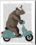 Rhino on Moped Fine-Art Print