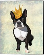 Boston Terrier and Crown Fine-Art Print