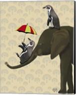 Elephant and Penguins Fine-Art Print