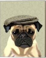 Pug in Flat Cap Fine-Art Print