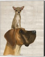 Great Dane and Chihuahua Fine-Art Print