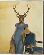 Deer In Blue Dress Fine-Art Print