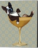 Boston Terrier in Cocktail Glass Fine-Art Print
