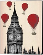 Big Ben and Red Hot Air Balloons Fine-Art Print