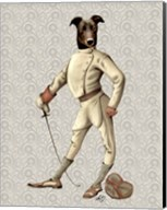 Greyhound Fencer in Cream Full Fine-Art Print