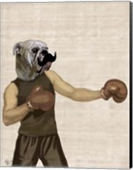 Boxing Bulldog Portrait Fine-Art Print
