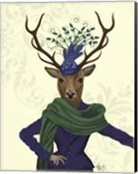 Deer and Fascinator Fine-Art Print