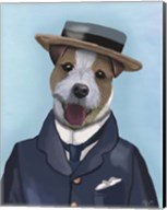 Jack Russell in Boater Fine-Art Print