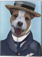 Jack Russell in Boater Fine-Art Print