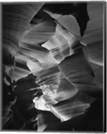 Red Sandstone Walls, Lower Antelope Canyon (Black & White) Fine-Art Print