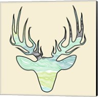 Deer Teal Green Fine-Art Print