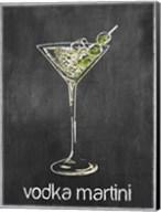 Vodka Martini Chalk Fine-Art Print