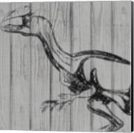 Dino On Wood II Fine-Art Print