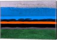 Abstract Stripe Theme Orange and Blue Fine-Art Print