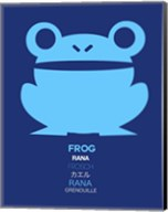 Blue Frog Multilingual Fine-Art Print
