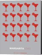 Red Margaritas Grey Fine-Art Print