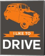 I Like to Drive Beetle 4 Fine-Art Print