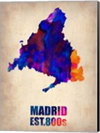 Madrid Watercolor Map Fine-Art Print