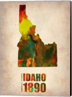 Idaho Watercolor Map Fine-Art Print