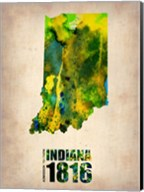 Indiana Watercolor Map Fine-Art Print