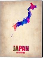 Japan Watercolor Map Fine-Art Print