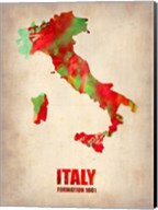 Italy Watercolor Map Fine-Art Print