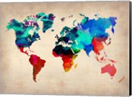 World Watercolor Map 1 Fine-Art Print