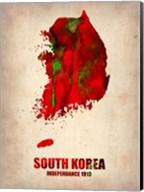 South Korea Watercolor Map Fine-Art Print