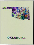 Oklahoma Color Splatter Map Fine-Art Print