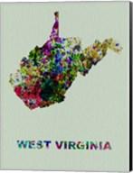 West Virginia Color Splatter Map Fine-Art Print