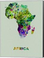 Africa Color Splatter Map Fine-Art Print